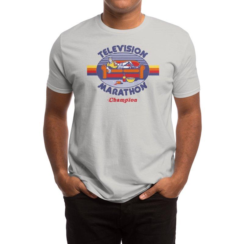 Television Marathon Champion Men's T-Shirt by Threadless Artist Shop