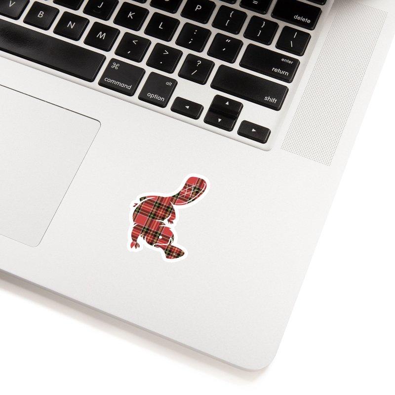 Plaid-apus Accessories Sticker by Threadless Artist Shop