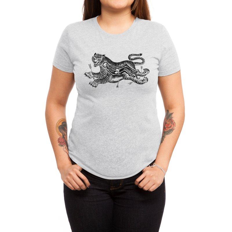 Tiger Skull Women's T-Shirt by Threadless Artist Shop