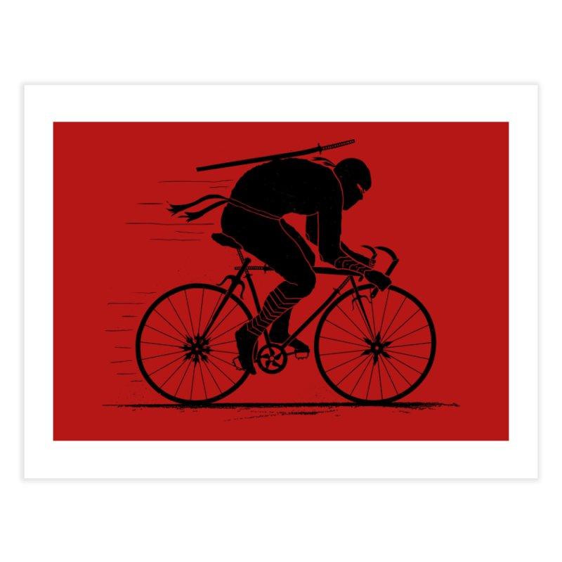 Ninja Rider Home Fine Art Print by Threadless Artist Shop