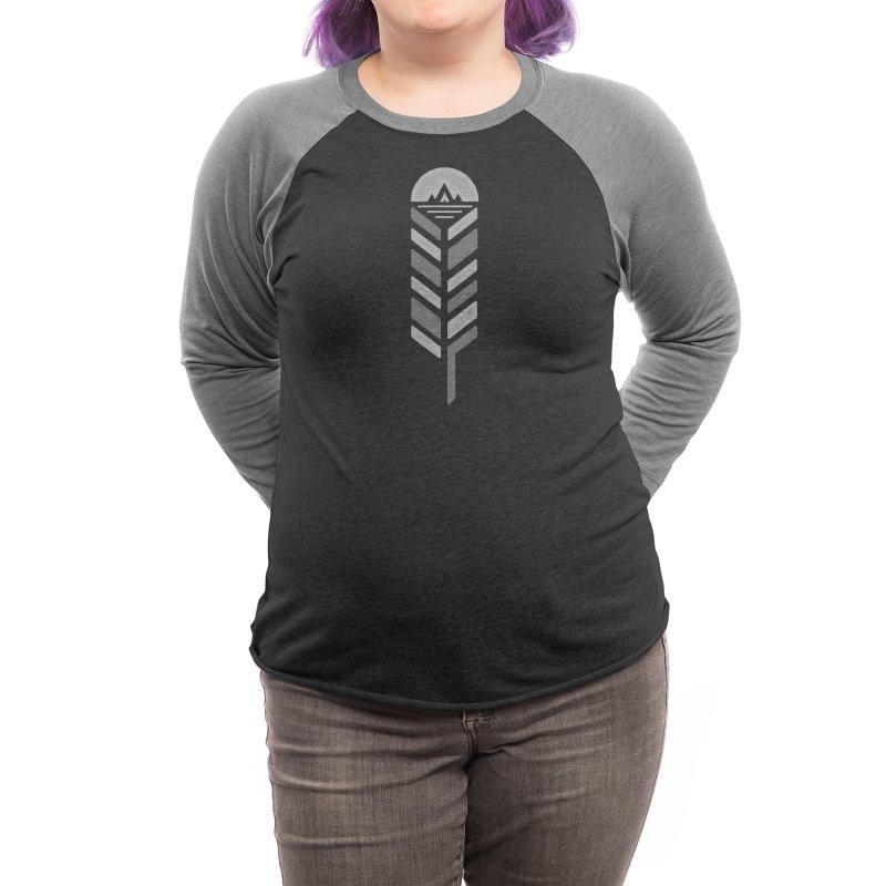 Feather Women's Longsleeve T-Shirt by Threadless Artist Shop