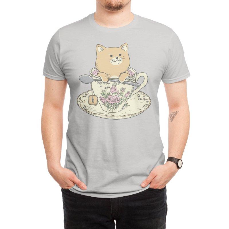 Tea cat time Men's T-Shirt by Threadless Artist Shop