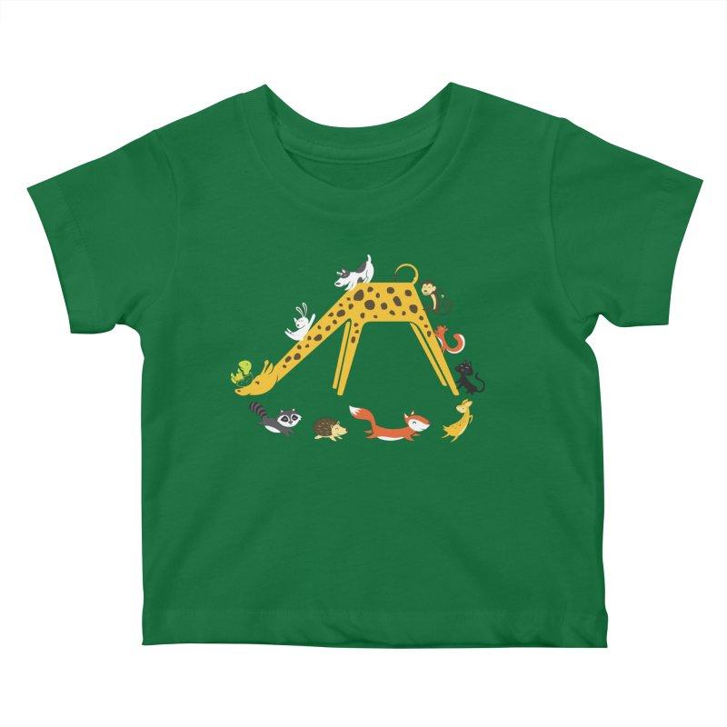 Giraffe Slide Kids Baby T-Shirt by Threadless Artist Shop