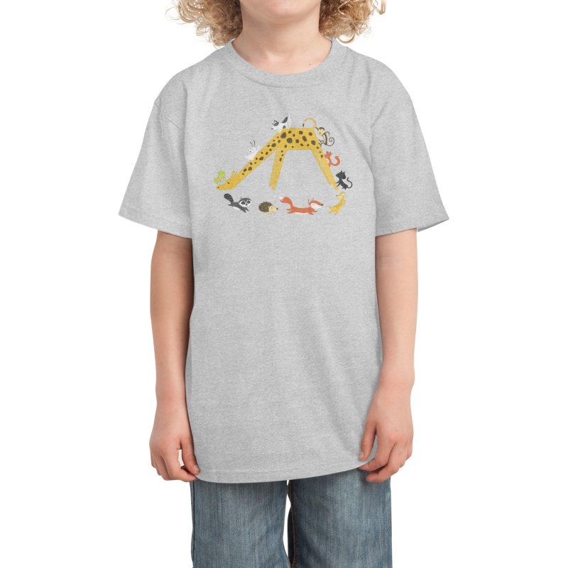 Giraffe Slide Kids T-Shirt by Threadless Artist Shop