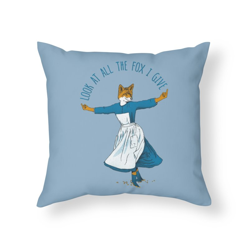 Look At All The Fox I Give Home Throw Pillow by Threadless Artist Shop