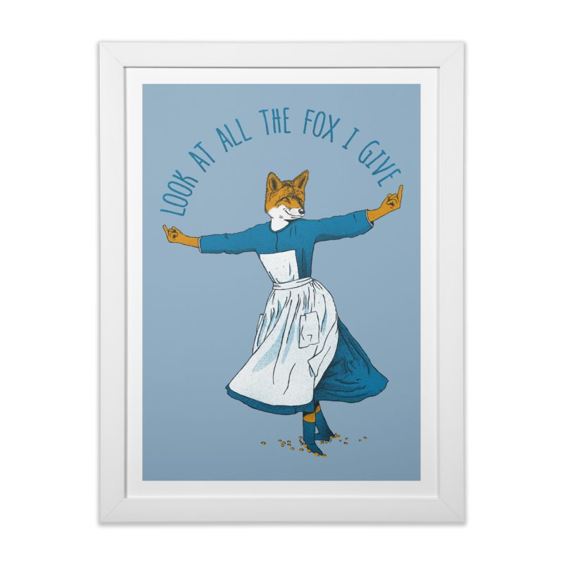 Look At All The Fox I Give Home Framed Fine Art Print by Threadless Artist Shop