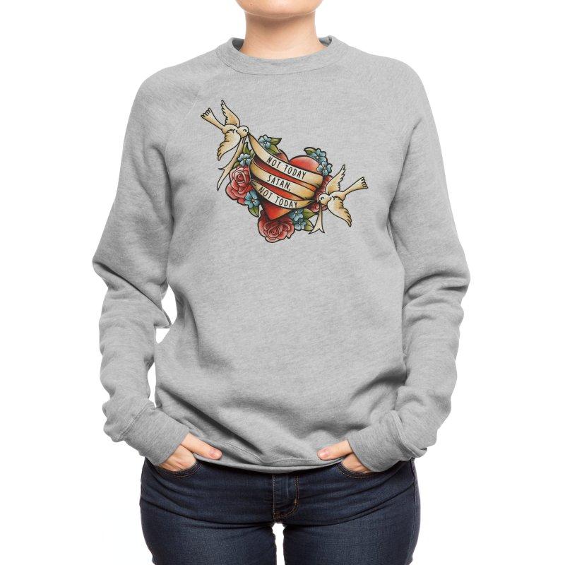 Not Today Satan Women's Sweatshirt by Threadless Artist Shop