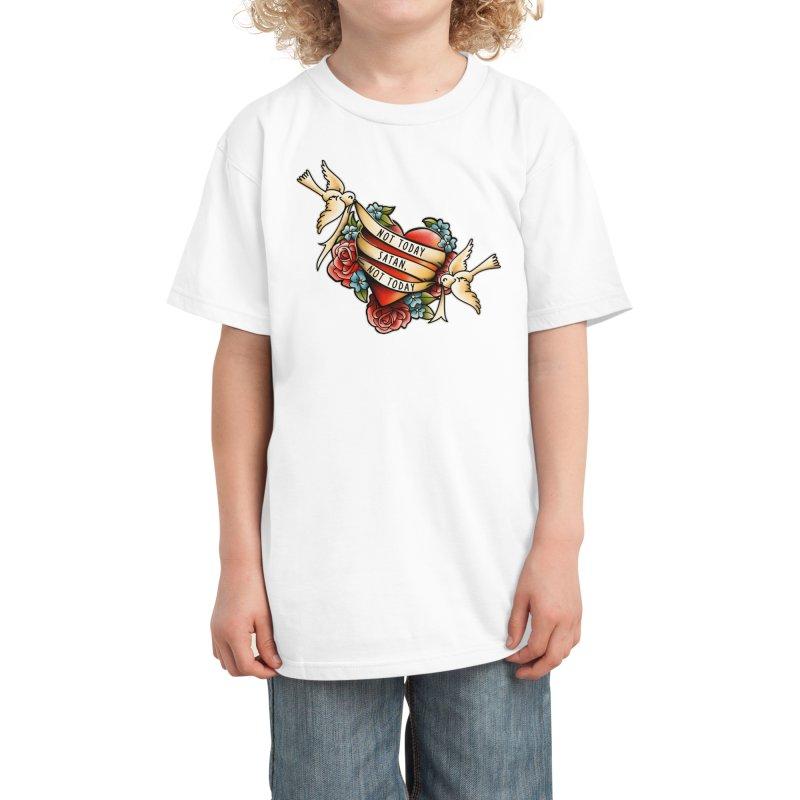 Not Today Satan Kids T-Shirt by Threadless Artist Shop
