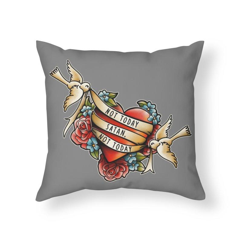 Not Today Satan Home Throw Pillow by Threadless Artist Shop