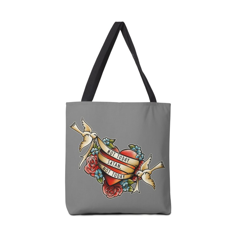 Not Today Satan Accessories Bag by Threadless Artist Shop