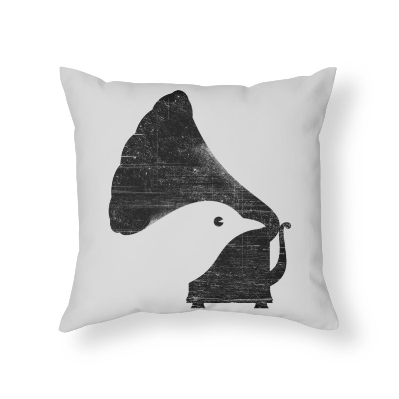 Songbird Home Throw Pillow by Threadless Artist Shop