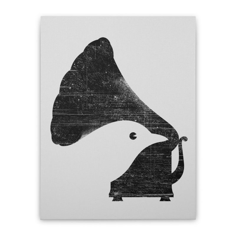 Songbird Home Stretched Canvas by Threadless Artist Shop