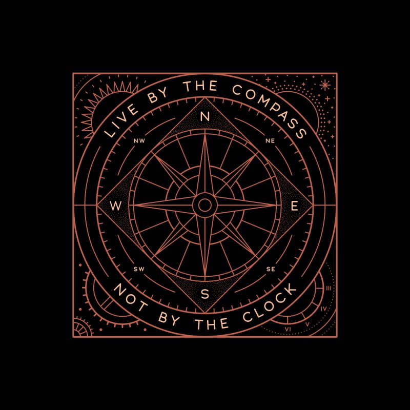 Live By The Compass Men's T-Shirt by Threadless Artist Shop