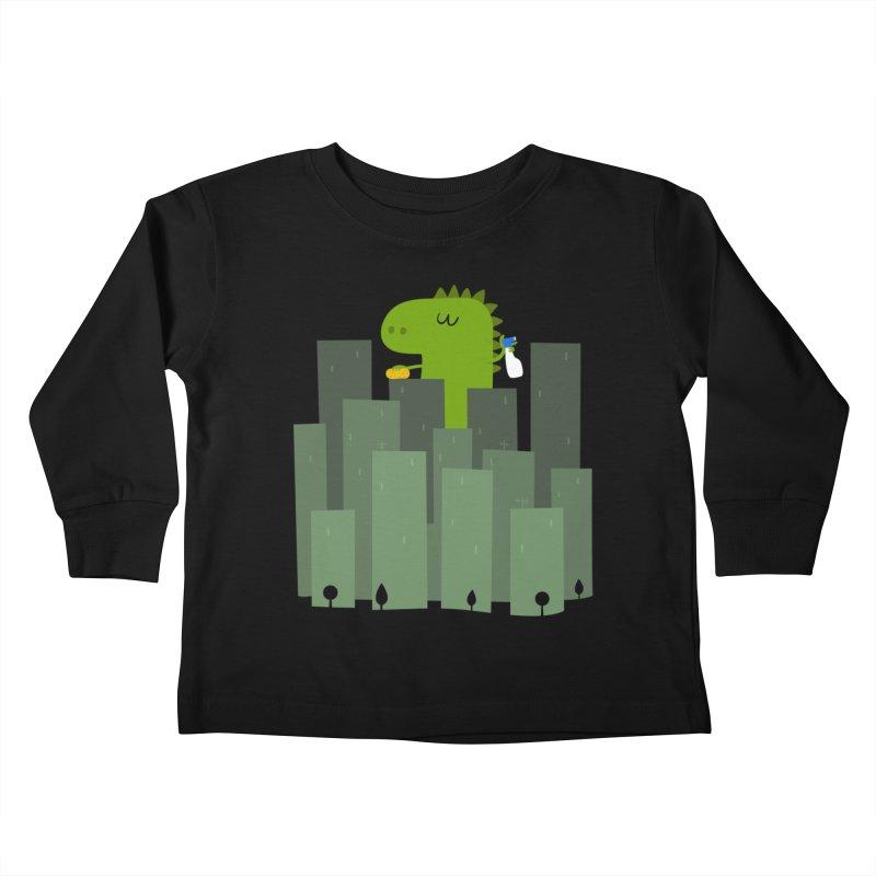 Clean Monster Kids Toddler Longsleeve T-Shirt by Threadless Artist Shop