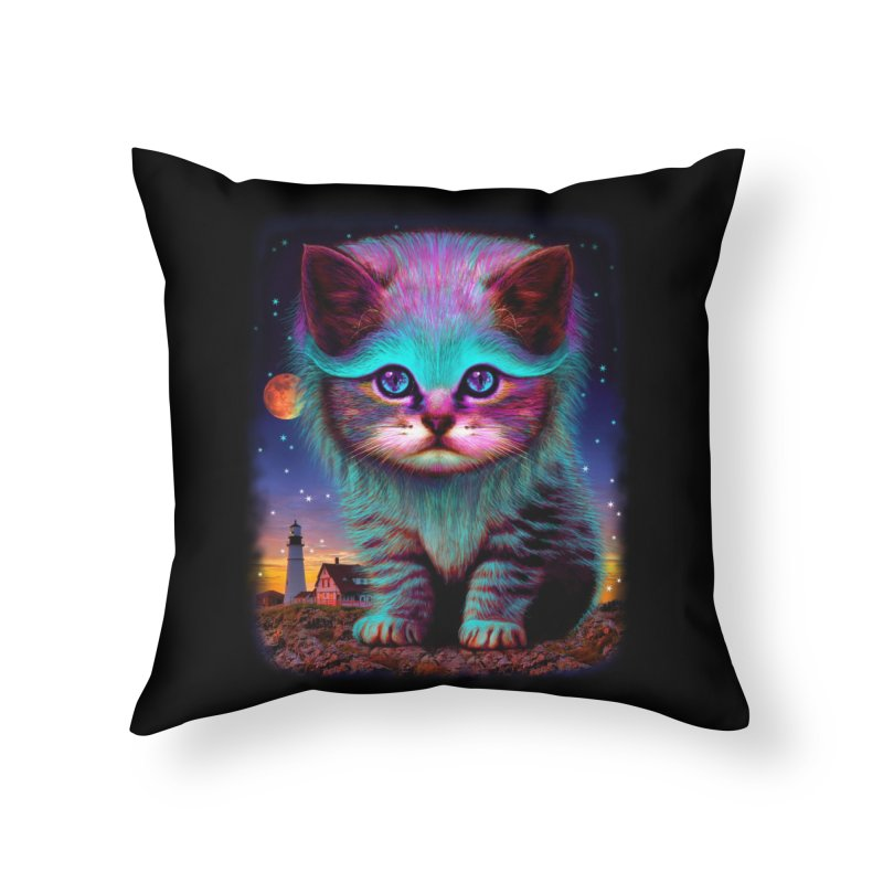 WAITING FOR MY FISH Home Throw Pillow by Threadless Artist Shop