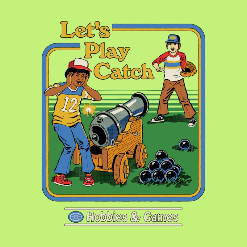 Let's Play Catch Men's T-Shirt by Threadless Artist Shop