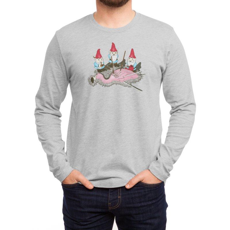 Demise of Mr. Flamingo Men's Longsleeve T-Shirt by Threadless Artist Shop