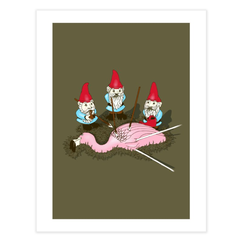 Demise of Mr. Flamingo Home Fine Art Print by Threadless Artist Shop