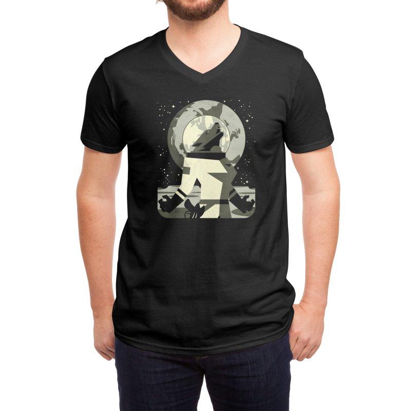 Werewolf in the Moon Men's V-Neck by Threadless Artist Shop