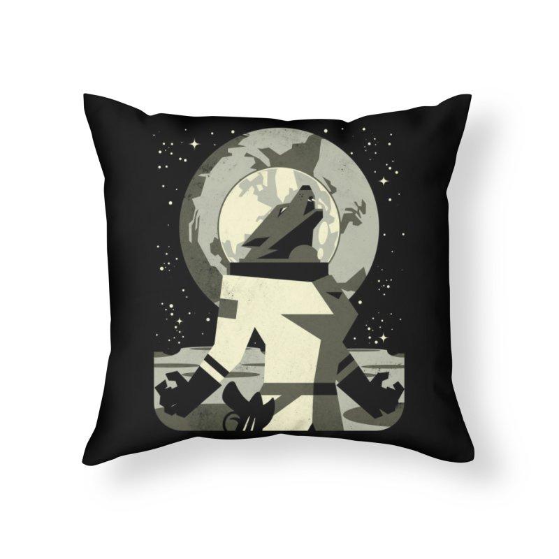 Werewolf in the Moon Home Throw Pillow by Threadless Artist Shop