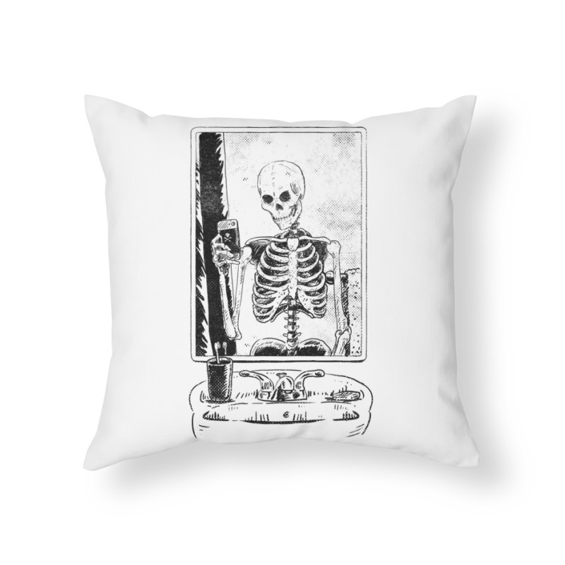 SKELFIE Home Throw Pillow by Threadless Artist Shop