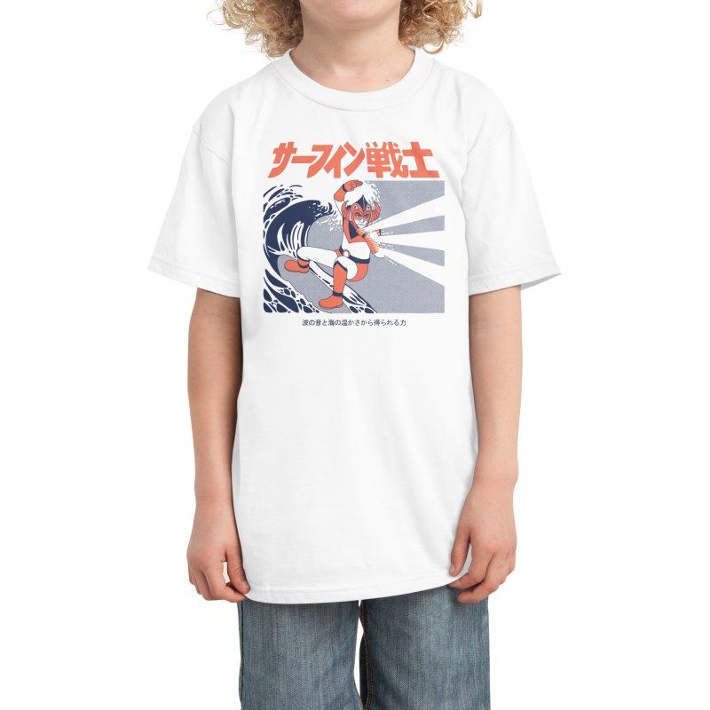 Wave Warrior Kids T-Shirt by Threadless Artist Shop