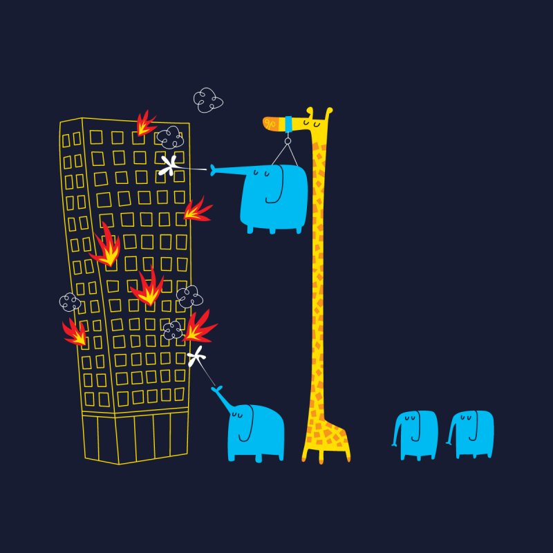 The Day The Fire Brigade Went On Strike Men's T-Shirt by Threadless Artist Shop