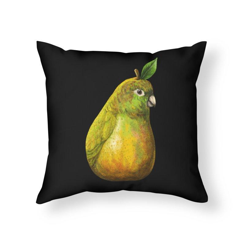 Bartlett Pearrot Home Throw Pillow by Threadless Artist Shop
