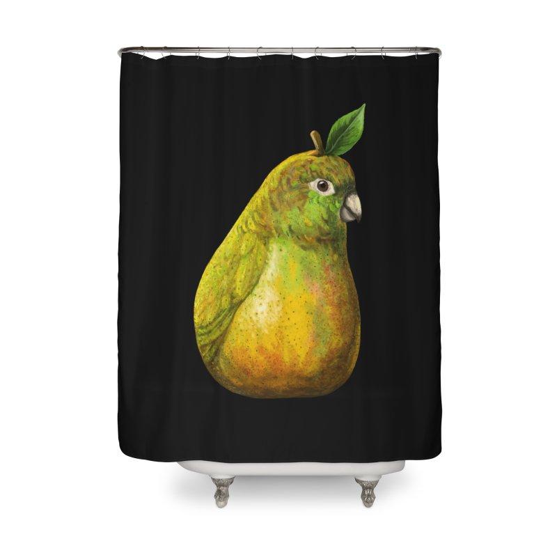 Bartlett Pearrot Home Shower Curtain by Threadless Artist Shop