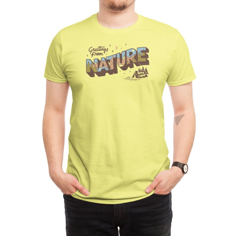 Nature Greetings Men's T-Shirt by Threadless Artist Shop