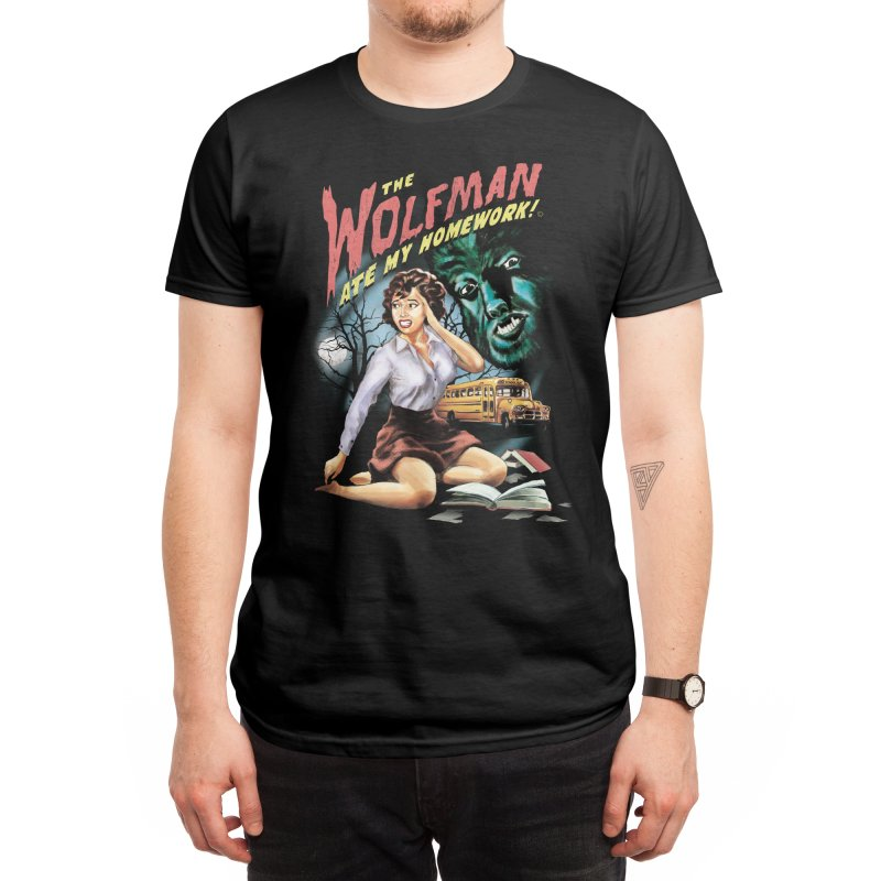 The Wolfman Ate My Homework! Men's T-Shirt by Threadless Artist Shop