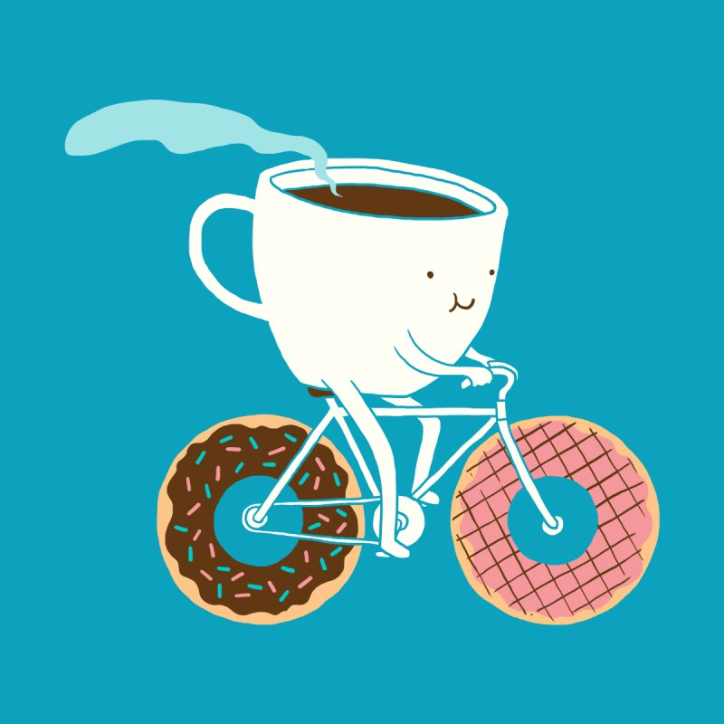 Coffee and Donuts Accessories Phone Case by Threadless Artist Shop