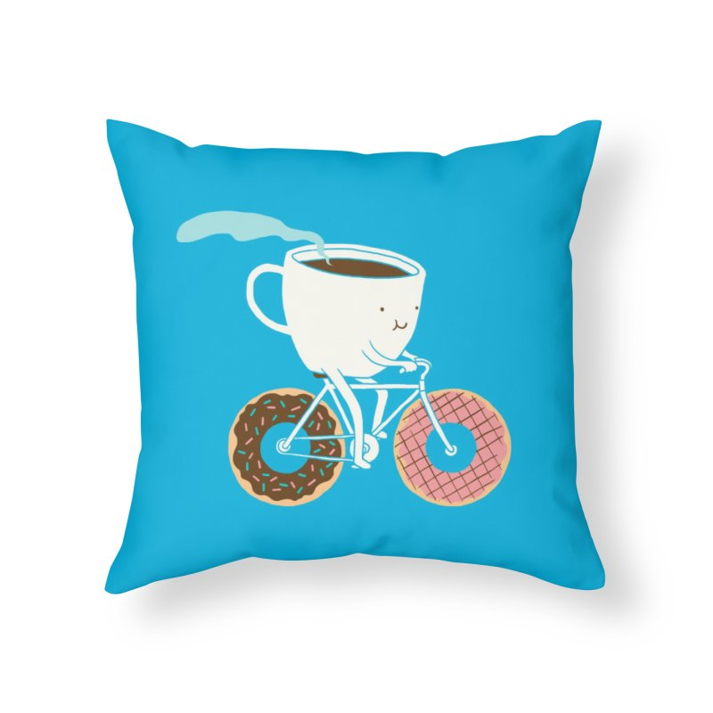 Coffee and Donuts Home Throw Pillow by Threadless Artist Shop