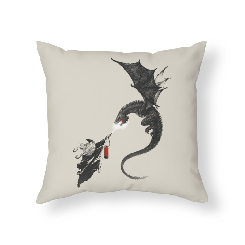 Fight Fire with Fire Home Throw Pillow by Threadless Artist Shop
