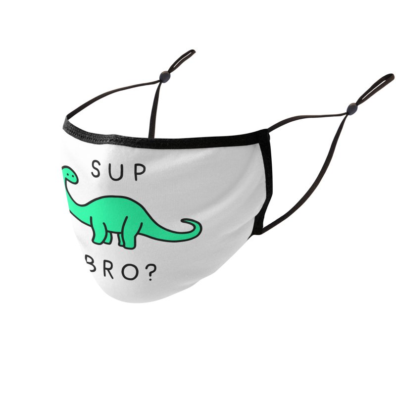 Sup Brontosaurus? Accessories Face Mask by Threadless Artist Shop