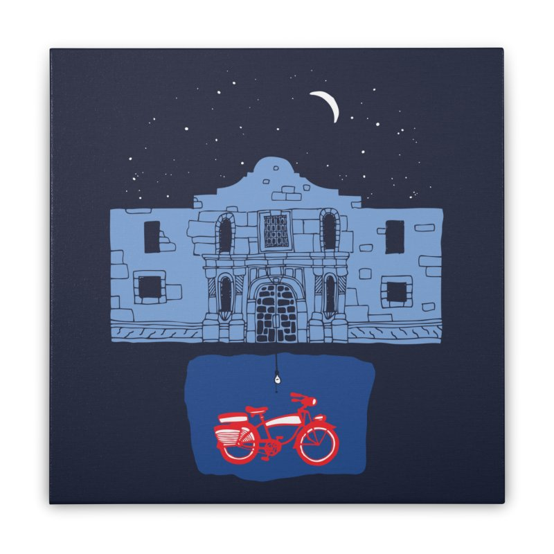 In The Basement Of The Alamo Home Stretched Canvas by Threadless Artist Shop