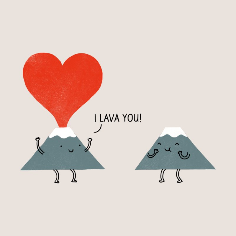 I Lava You Home Mounted Acrylic Print by Threadless Artist Shop
