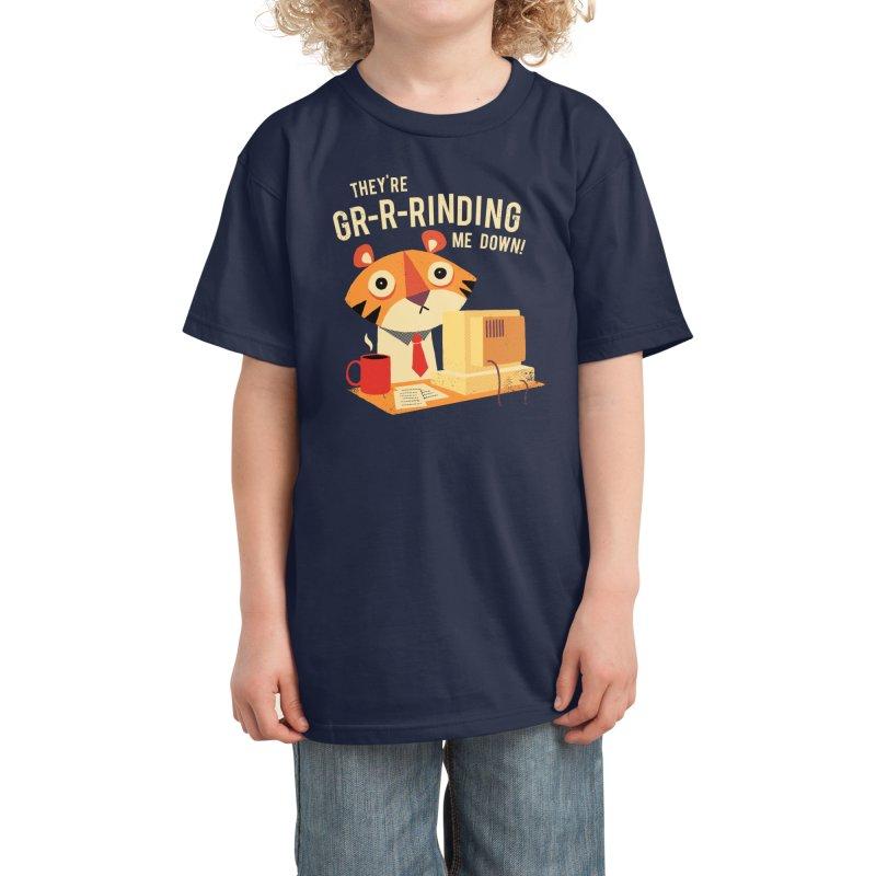 GR-R-Rinding Me Down Kids T-Shirt by Threadless Artist Shop