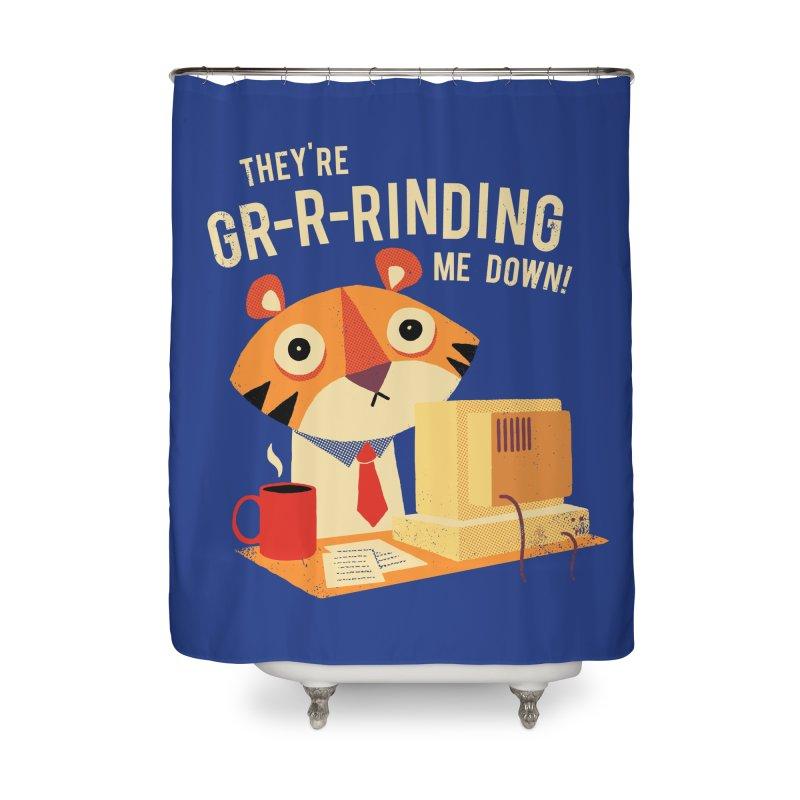 GR-R-Rinding Me Down Home Shower Curtain by Threadless Artist Shop