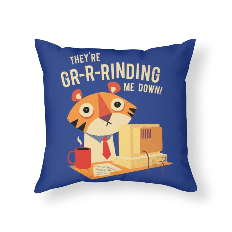 GR-R-Rinding Me Down Home Throw Pillow by Threadless Artist Shop