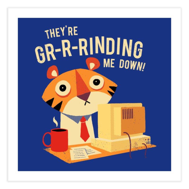 GR-R-Rinding Me Down Home Fine Art Print by Threadless Artist Shop