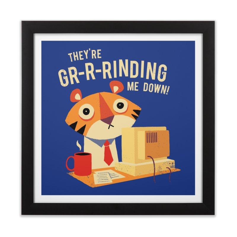 GR-R-Rinding Me Down Home Framed Fine Art Print by Threadless Artist Shop