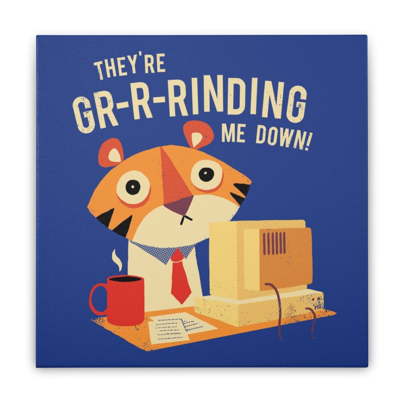GR-R-Rinding Me Down Home Stretched Canvas by Threadless Artist Shop