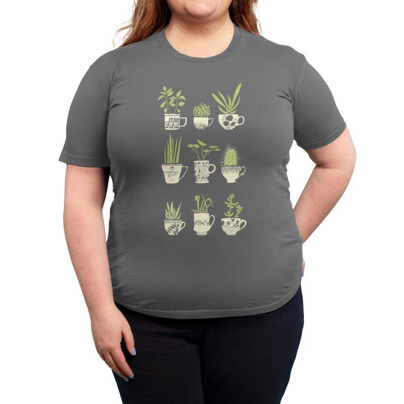 Teacup Succulents Women's T-Shirt by Threadless Artist Shop