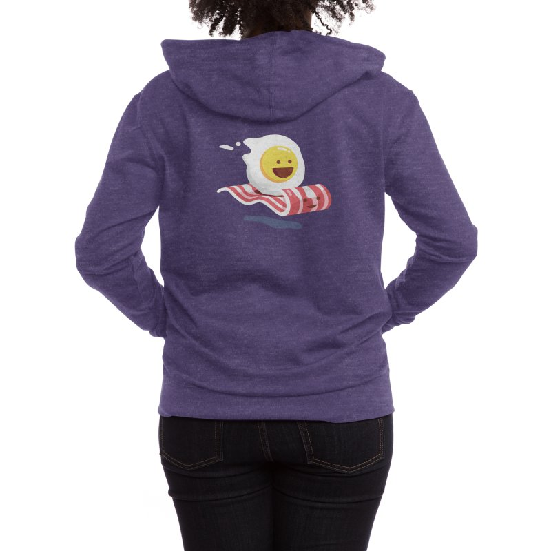 Magic Bacon Ride Women's Zip-Up Hoody by Threadless Artist Shop