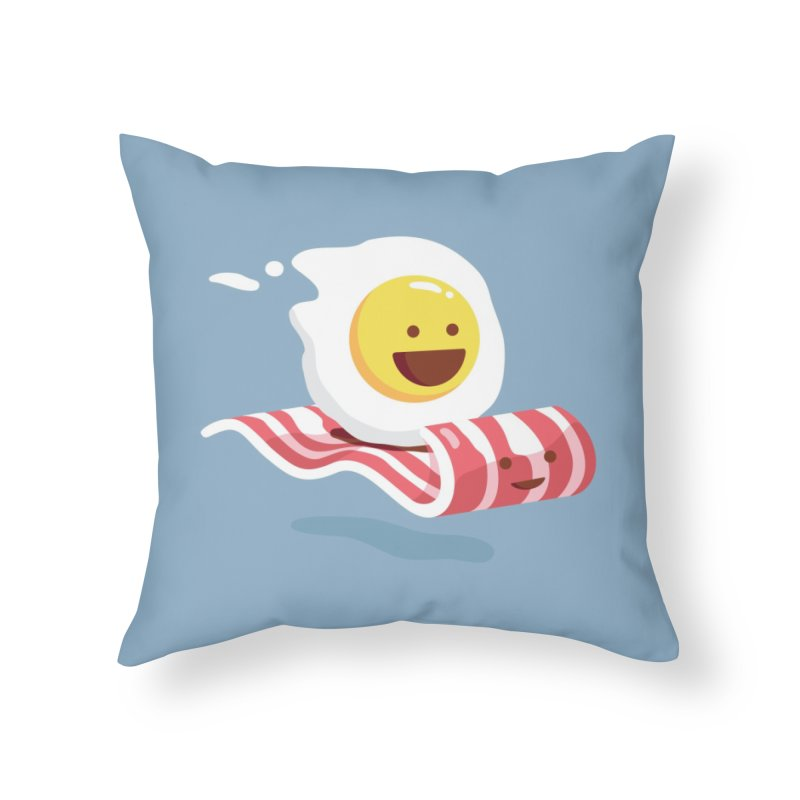 Magic Bacon Ride Home Throw Pillow by Threadless Artist Shop