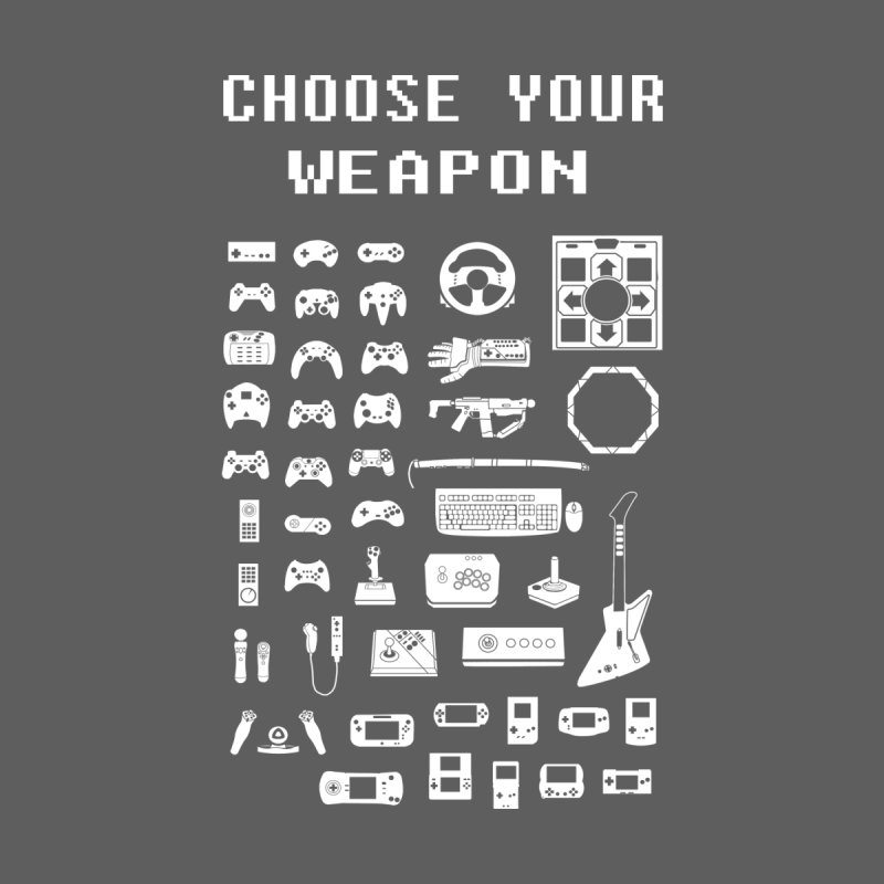 Choose Your Weapon: Gamers Home Framed Fine Art Print by Threadless Artist Shop