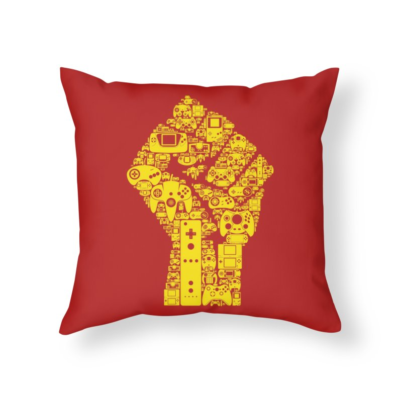 The Gaming Revolution Home Throw Pillow by Threadless Artist Shop
