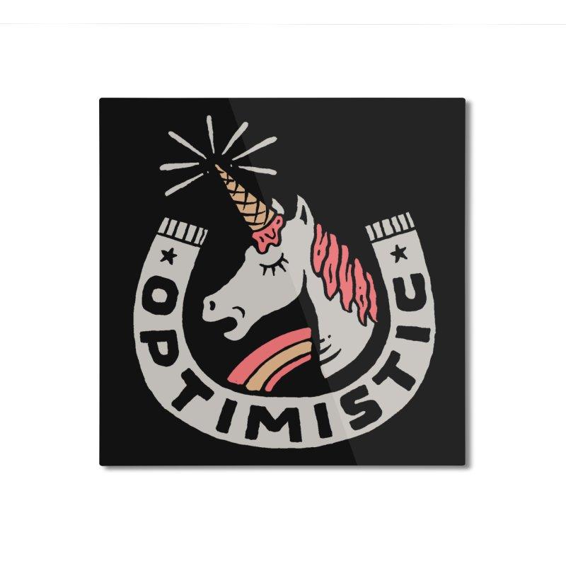 Optimist Home Mounted Aluminum Print by Threadless Artist Shop