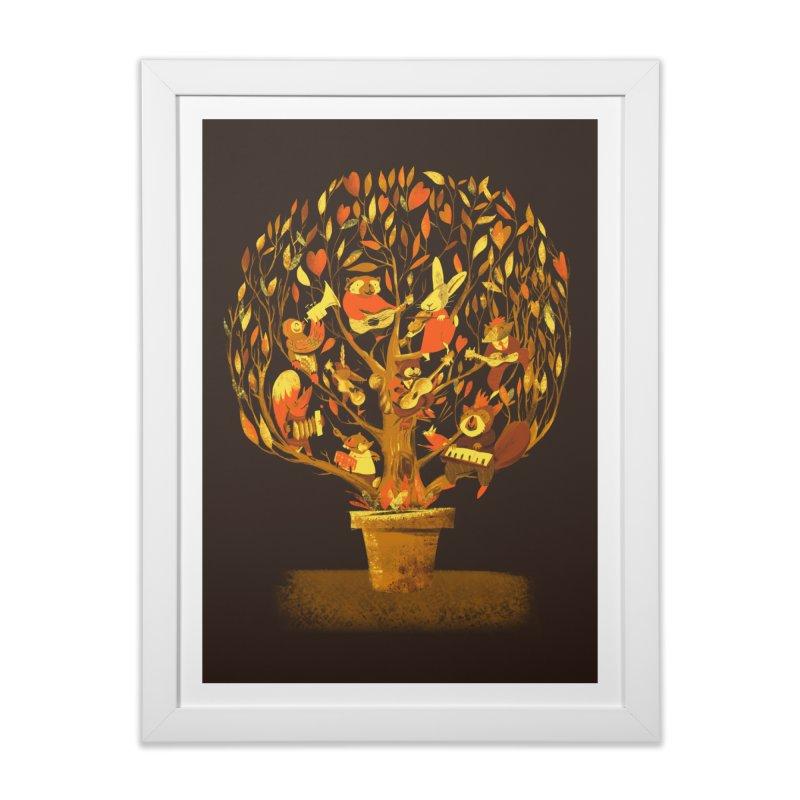 Tree Party Home Framed Fine Art Print by Threadless Artist Shop